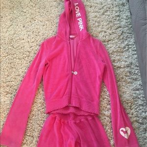 Pink Terry Cloth sweatsuit